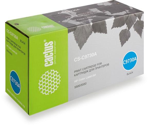 Лазерный картридж Cactus CS-C9730AR (HP 645A) черный для HP Color LaserJet 5500, 5500DN, 5500DTN, 5500HDN, 5500TDN, 5500N, 5550, 5550DN, 5550DTN, 5550HDN, 5550N (13'000 стр.)