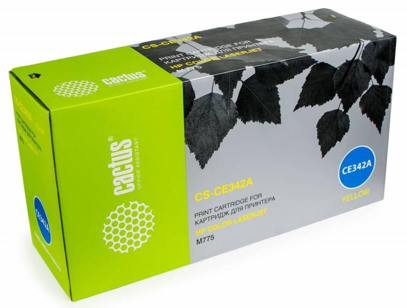 Лазерный картридж Cactus CS-CE342AR(HP 651A) желтый для HP Color LaserJet M775 (Enterprise 700 color), M775dn MFP, M775f MFP, M775z MFP (16000 стр.)Лазерные картриджи для HP<br><br><br>Лазерный картридж Cactus CS-CE342ARnbsp;<br><br>Предназначен для использования в принтерах HP Color LaserJet M775 (Enterprise 700 color), M775dn MFP, M775f MFP, M775z MFP, M775zplus MFPnbsp;<br><br>Страна производства - Россия<br><br>Цвет ndash; желтый<br><br>Используя картридж Cactus CS-CE342ARnbsp;у Вас будет возможность распечатать около 16#39;000 информационных страниц (при 5% заполнении).<br><br>Гарантия на картридж Cactus CS-CE342ARnbsp;предоставляется производителем, сроком на 12 месяцев с момента приобретения.<br><br>