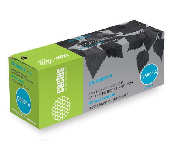 Лазерный картридж Cactus CS-Q6001AR (HP 124A) голубой для принтеров HP  Color LaserJet 1600, 2600, 2600N, 2605, 2605DN, 2605DTN, CM1015, CM1015 MFP, CM1017, CM1017 MFP (2000 стр.)Лазерные картриджи для HP<br>Лазерный картридж&amp;nbsp;Cactus CS-Q6001AR (HP 124A)?. Он совместим с лазерным принтером HP  Color LaserJet 1600, 2600, 2600N, 2605, 2605DN, 2605DTN, CM1015, CM1015 MFP, CM1017, CM1017 MFP. Цвет - голубой. С помощью данного картриджа Вы сможете распечатать порядка 2000 страниц текста (при 5% заполнении листа).&amp;nbsp; Cactus CS-Q6001AR&amp;nbsp;создан по аналогии скартриджем Hewlett-Packard Q6001A&amp;nbsp;(HP 124A)&amp;nbsp;, нисколько не уступает ему по качеству печати, но цена его значительно ниже. Это позволит Вам немного сэкономить, ничего при этом не потеряв. На тонер-картридж Cactus CS-Q6001AR&amp;nbsp;распространяется гарантия 1 год с момента приобретения.<br>