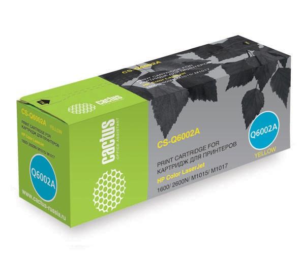 Лазерный картридж Cactus CS-Q6002AR (HP 124A) желтый для принтеров HP  Color LaserJet 1600, 2600, 2600N, 2605, 2605DN, 2605DTN, CM1015, CM1015 MFP, CM1017, CM1017 MFP (2000 стр.)Лазерные картриджи для HP<br>Лазерный картридж&amp;nbsp;Cactus CS-Q6002AR (HP 124A)?. Он совместим с лазерным принтером HP  Color LaserJet 1600, 2600, 2600N, 2605, 2605DN, 2605DTN, CM1015, CM1015 MFP, CM1017, CM1017 MFP. Цвет - желтый. С помощью данного картриджа Вы сможете распечатать порядка 2000 страниц текста (при 5% заполнении листа).&amp;nbsp; Cactus CS-Q6002AR&amp;nbsp;создан по аналогии скартриджем Hewlett-Packard Q6002A&amp;nbsp;(HP 124A)&amp;nbsp;, нисколько не уступает ему по качеству печати, но цена его значительно ниже. Это позволит Вам немного сэкономить, ничего при этом не потеряв. На тонер-картридж Cactus CS-Q6002AR&amp;nbsp;распространяется гарантия 1 год с момента приобретения.<br>