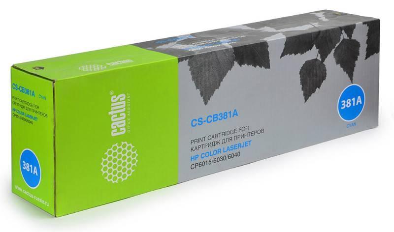 Лазерный картридж Cactus CS-CB381AR (HP 824A) голубой для HP Color LaserJet CM6030, CM6030F MFP, CM6030MFP, CM6040, CM6040F CM6040MFP, CP6015, CP6015DE, CP6015DN, CP6015N, CP6015X, CP6015XH (21'000 стр.)