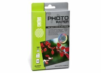 Фотобумага Cactus CS-GA618050 A6, 180г/м2, 50л., белый глянцевое для струйной печатиФотобумага<br>