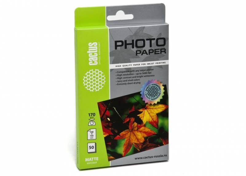 Фотобумага Cactus CS-GA520050 A5, 200г/м2, 50л., белый глянцевое для струйной печати