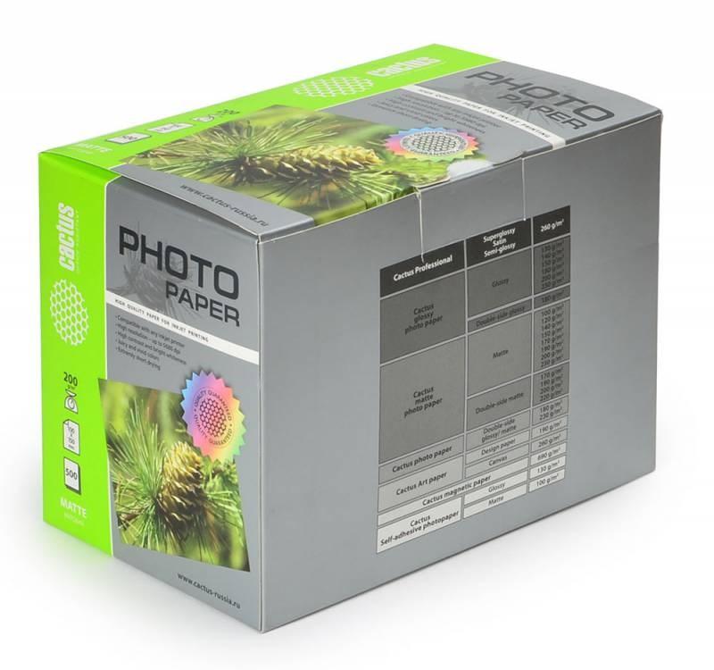 Фотобумага Cactus CS-MA6200500 10x15, 200г/м2, 500л, белая матовая для струйной печати фото