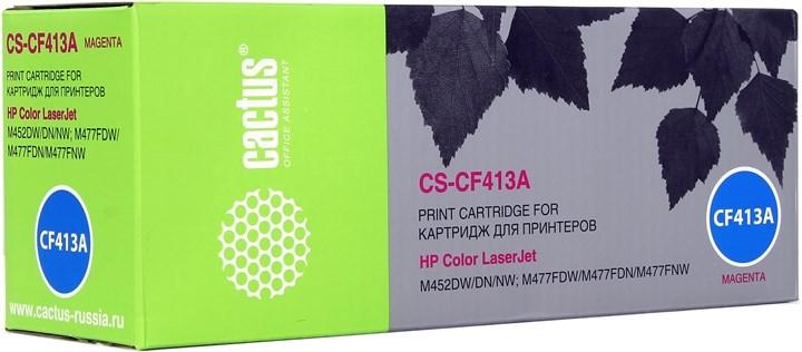 Лазерный картридж Cactus CS-CF413A (HP 410A) пурпурный для HP Color LaserJet M377, M377dw, M452 Pro, M477, M477fdn, M477fdw, M477fnw (2'300 стр.) фото