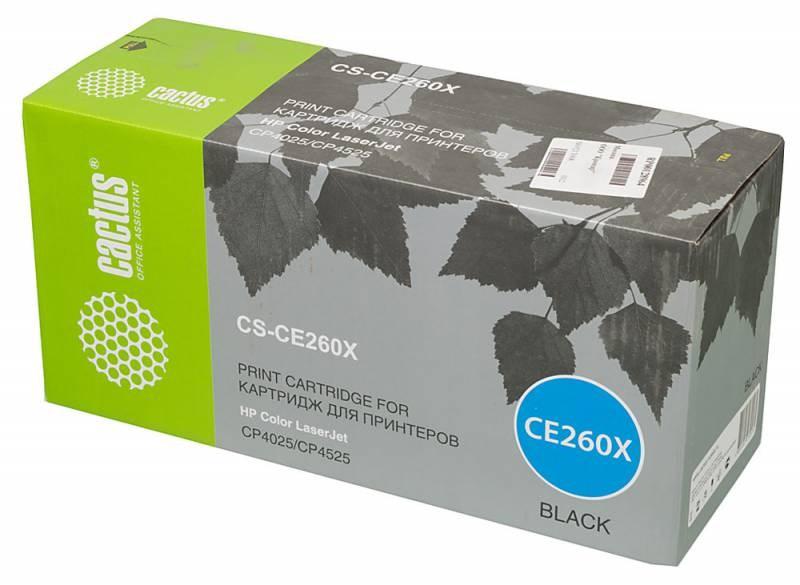 Лазерный картридж Cactus CS-CE260X (HP 649X) черный увеличенной емкости для HP Color LaserJet CP4520, CP4525, CP4525dn, CP4525n, CP4525xh (17000 стр.)Лазерные картриджи для HP<br><br><br>Лазерный картридж Cactus CS-CE260X<br><br>Предназначен для использования в принтерах HP Color LaserJet CP4520 Enterprise, CP4525 Enterprise, CP4525dn, CP4525n, CP4525xhnbsp;<br><br>Страна производства - Китай<br><br>Цвет ndash; черныйnbsp;<br><br>Используя картридж Cactus CS-CE260X у Вас будет возможность распечатать около 17#39;000 информационных страниц (при 5% заполнении).<br><br>Гарантия на картридж Cactus CS-CE260X предоставляется производителем, сроком на 12 месяцев с момента приобретения.<br><br>