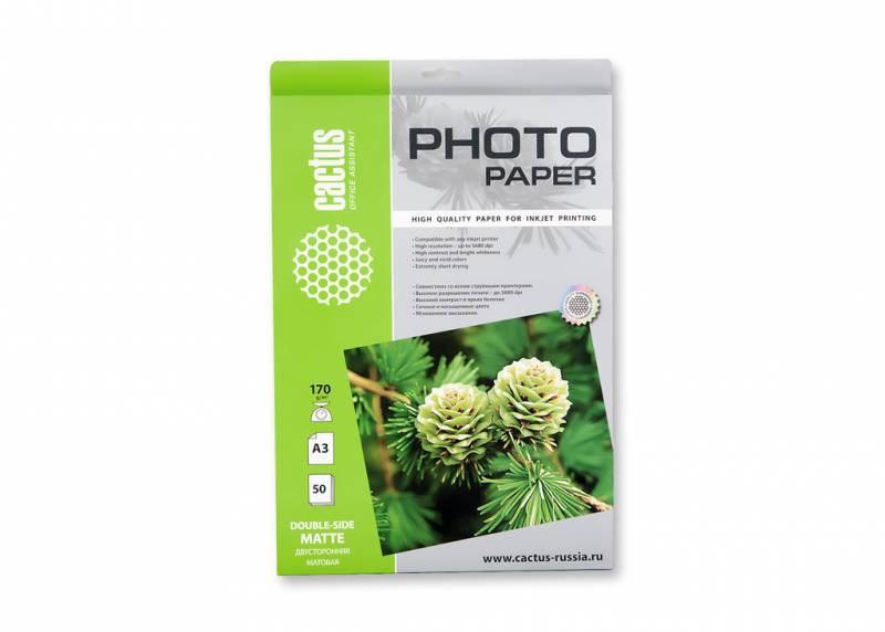 Фотобумага cactus cs-ma317050ds a3, 170г/м2, 50л.,