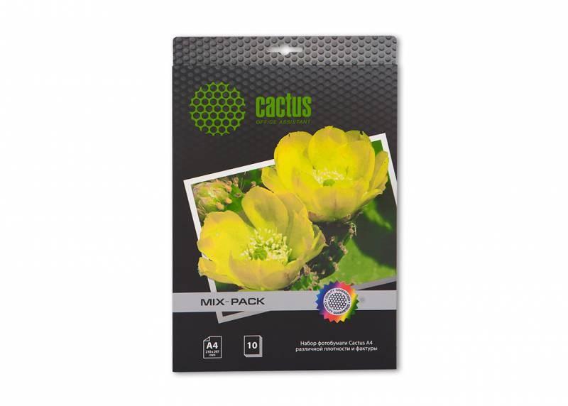 Фотобумага Cactus CS-MIXPACK A4, 10л. различная фактура универсальнаяФотобумага<br><br>