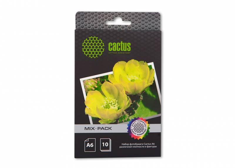 Фотобумага Cactus CS-MIXPACKА6 A6, 21л., белый различная фактура для струйной печатиФотобумага<br><br>