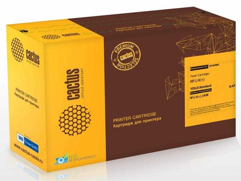 Лазерный картридж Cactus CSP-92298AX (HP 98A) черный для принтеров HP LaserJet 4, 4 Plus, 4M, 4M 4MX, 5, 5M, 5N (11000 стр.)