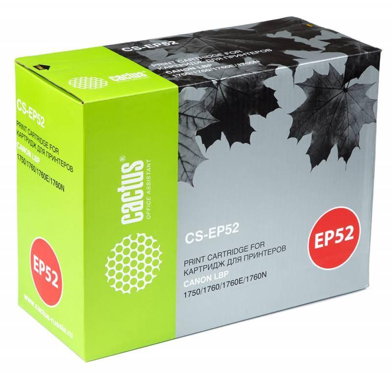 Лазерный картридж Cactus CS-EP52 (EP-52) черный для Canon LBP 1750, 1760, 1760E, 1760N (10'000 стр.) 948240
