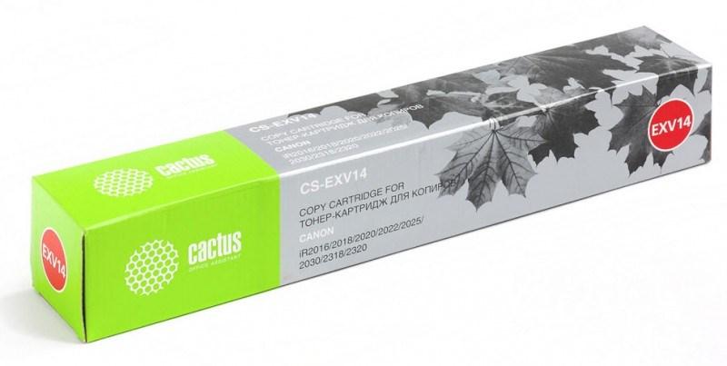 Лазерный картридж Cactus CS-EXV14 (C-EXV14) черный для Canon ImageRunner 2016, 2016i, 2016j, 2020, 2020i; IR 2016, 2016i, 2016j, 2018, 2018i, 2020, 2022, 2022i, 2025, 2030, 2030i, 2318, 2318l, 2320, 2320J, 2320l, 2420, 2422 (8'300 стр.) 690192