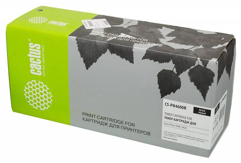 Лазерный картридж Cactus CS-PH4600R (106R01534) черный для принтеров Xerox Phaser 4600, 4600N, 4600DN, 4600DT, 4620, 4620DN, 4620DT (13000 стр.)Лазерные картриджи для Xerox<br>Лазерный тонер картридж Cactus CS-PH4600R (106R01534) создан для использования в принтерах Xerox Phaser 4600, 4600N, 4600DN, 4600DT, 4620, 4620DN, 4620DT<br>&amp;nbsp;<br><br>Ресурс картриджа 13000 страниц<br>&amp;nbsp;<br><br>Гарантия 12 месяцев<br>