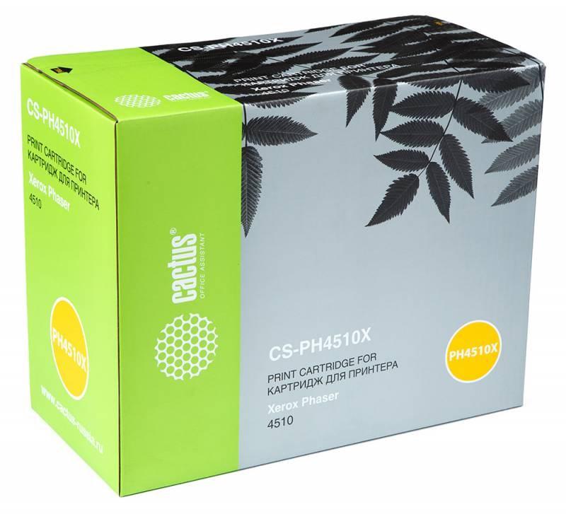 Лазерный картридж Cactus CS-PH4510X (113R00712) черный для принтеров Xerox Phaser 4510, 4510b, 4510dn, 4510dt, 4510dx, 4510n, 4510vb, 4510vn (19000 стр.)Лазерные картриджи для Xerox<br>Лазерный тонер картридж Cactus CS-PH4510X (113R00712) создан для использования в принтерах Xerox Phaser 4510, 4510b, 4510dn, 4510dt, 4510dx, 4510n, 4510vb, 4510vn<br>&amp;nbsp;<br><br>Ресурс картриджа 19000 страниц<br>&amp;nbsp;<br><br>Гарантия 12 месяцев<br>