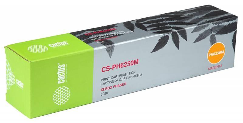 Лазерный картридж cactus cs-ph6250m (106r00669) пурпурный для xerox