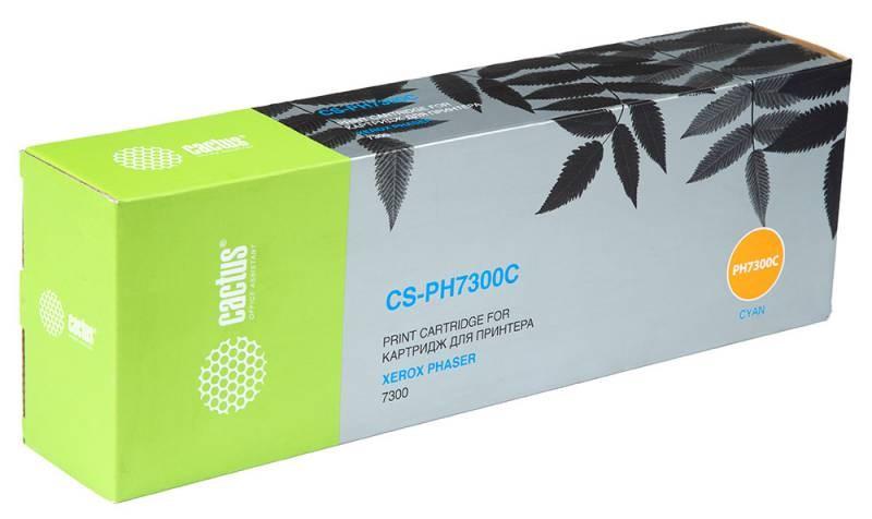 Лазерный картридж Cactus CS-PH7300C (016197700) голубой для принтеров Xerox Phaser 7300, 7300dt, 7300dx, 7300v (15000 стр.)Лазерные картриджи для Xerox<br>Лазерный тонер картридж Cactus CS-PH7300C (16197700) создан для использования в принтерах Xerox Phaser 7300, 7300dt, 7300dx, 7300v<br>&amp;nbsp;<br><br>Ресурс картриджа 15000 страниц<br>&amp;nbsp;<br><br>Гарантия 12 месяцев<br>