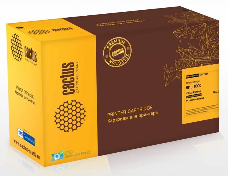 Лазерный картридж Cactus CSP-C3909A (HP 09A) черный для принтеров HP LaserJet 5Si, 8000, 8000DN, 8000MFP, 8000N, Mopier 240 (15000 стр.)Лазерные картриджи Premium<br>Лазерный картридж&amp;nbsp;Cactus CSP-C3909A&amp;nbsp;(HP 09A)&amp;nbsp;полностью аналогичен картриджу Hewlett-Packard C3909A&amp;nbsp;(HP 09A). Его цвет - черный, а ресурс данной модели - порядка 15000 страниц (при 5% заполнении листа). Картридж Cactus CSP-C3909A&amp;nbsp;совместим с различными моделями лазерных принтеров HP LaserJet 5Si, 8000, 8000DN, 8000MFP, 8000N, Mopier 240. Срок гарантийного обслуживания, который предоставляет Cactus - 1 год. Вобрав в себя все лучшие качества оригинала, картридж Cactus CSP-C3909A&amp;nbsp;при этом стоит гораздо дешевле, что не может не радовать пользователей оргтехники, и особенно людей практичных, не привыкших бросать деньги на ветер.<br>
