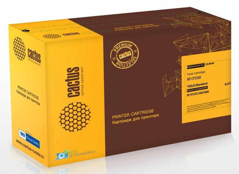 Лазерный картридж Cactus CSP-Q6470A (HP 501A) черный для принтеров HP  Color LaserJet 3600, 3600DN, 3600N, 3800, 3800DN, 3800DTN, 3800N, CP3505, CP3505dn, CP3505n, CP3505x (6000 стр.)