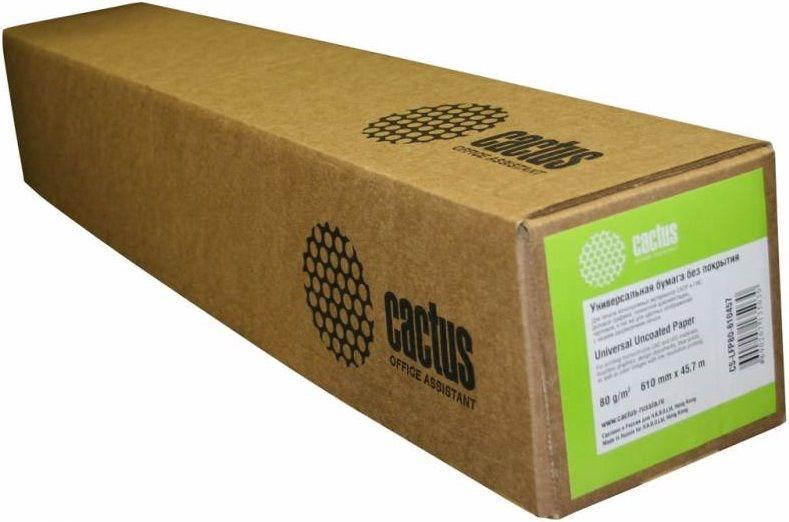 Бумага Cactus Eco CS-LFP80-610457E 610мм-45м, 80г/м2 универсальная втулка:50.8мШирокоформатная бумага<br><br>