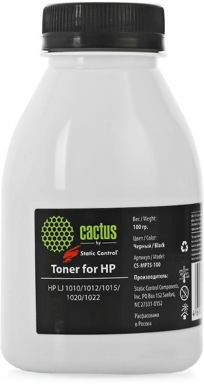 Тонер Cactus CS-MPT5-150 (MPT5-150) черный флакон 150гр. для принтера HP LJ 1200. фото