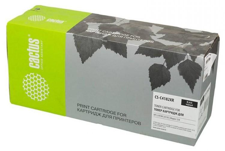 Лазерный картридж Cactus CS-C4182XR (HP 82XR) черный для принтеров LaserJet 8100, 8100DN, 8100MFP, 8100N, 8150, 8150DN, 8150HN, 8150MFP, 8150N, Mopier 320 (20000 стр.)Лазерные картриджи для HP<br>Лазерный картридж&amp;nbsp;Cactus CS-C4182XR&amp;nbsp;(HP 82XR). Он совместим с лазерным принтером HP LaserJet 8100, 8100DN, 8100MFP, 8100N, 8150, 8150DN, 8150HN, 8150MFP, 8150N, MOPIER 320. Цвет - черный. С помощью данного картриджа Вы сможете распечатать порядка 20000 страниц текста (при 5% заполнении листа).&amp;nbsp; Cactus CS-C4182XR создан по аналогии с картриджем Hewlett-Packard C4182XR (HP 82XR), нисколько не уступает ему по качеству печати, но цена его значительно ниже. Это позволит Вам немного сэкономить, ничего при этом не потеряв. На тонер-картридж Cactus CS-C4182XR распространяется гарантия 1 год с момента приобретения.<br>
