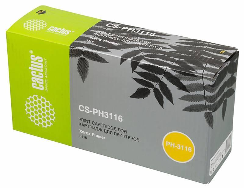 Тонер Картридж Cactus CS-PH3116 (109R00748) черный для Xerox Phaser 3116 (3000стр.)Лазерные картриджи для Xerox<br><br>