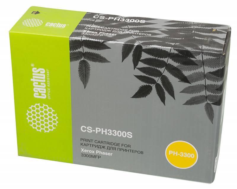 Лазерный картридж Cactus CS-PH3300S (106R01411) черный для Xerox Phaser 3300, 3300mfp (4'000 стр.) 340886