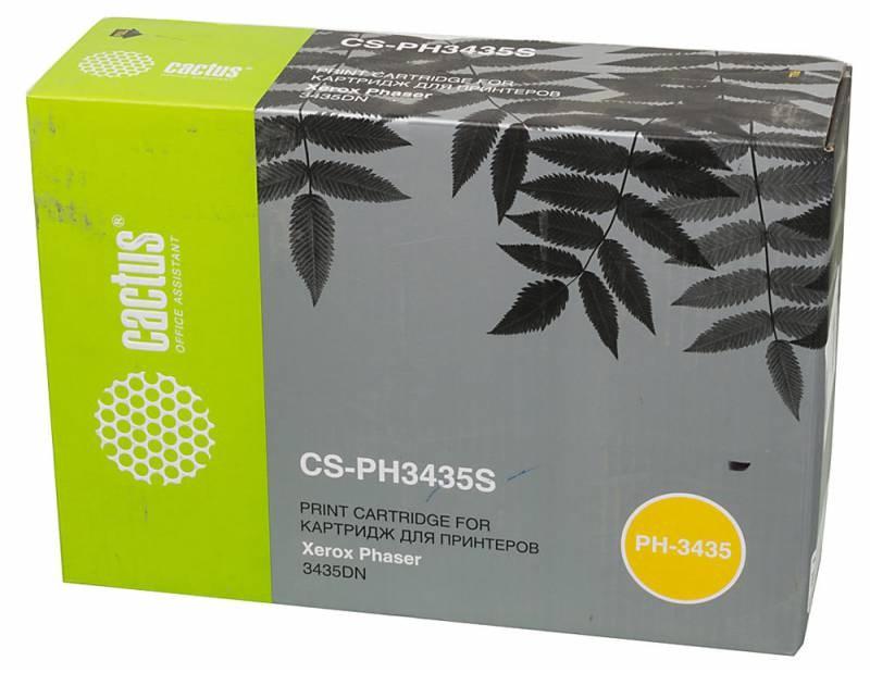 Лазерный картридж Cactus CS-PH3435S (106R01414) черный для Xerox Phaser 3435, 3435dn (4000 стр.)Лазерные картриджи для Xerox<br><br><br><br><br>Лазерный картридж Cactus CS-PH3435S<br><br>Предназначен для использования в принтерах Xerox Phaser 3435, 3435dn<br><br>Страна производства - Китай<br><br>Цвет ndash; черный<br><br>Используя картридж Cactus CS-PH3435S у Вас будет возможность распечатать около 4#39;000 информационных страниц (при 5% заполнении).<br><br>Гарантия на картридж Cactus CS-PH3435S предоставляется производителем, сроком на 12 месяцев с момента приобретения.<br><br><br><br>