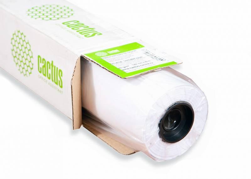 Бумага Cactus CS-PC90-61045 24(A1) (PC90) 610мм-45м, 90г/м2, белый универсальная (с покрытием) втулка:50.8мм (2)