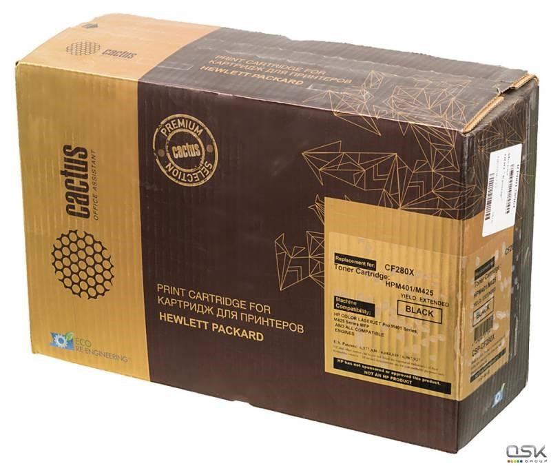 Тонер Картридж Cactus CSP-CF280X (HP 80X) PREMIUM черный для HP LJ M401,  M401dn, M425, M425dn (10000стр.)Лазерные картриджи Premium<br>Лазерный картридж CACTUS CSP-CF280X (HP 80X)&amp;nbsp;. Он совместим с лазерным принтером HP LASERJET M401, M401DN, M425, M425DN. Цвет - черный. С помощью данного картриджа Вы сможете распечатать порядка 10000 страниц текста (при 5% заполнении листа).&amp;nbsp;&amp;nbsp;CACTUS CSP-CF280X создан по аналогии с картриджем Hewlett-Packard CF280X (HP 80X)&amp;nbsp;, нисколько не уступает ему по качеству печати, но цена его значительно ниже. Это позволит Вам немного сэкономить, ничего при этом не потеряв. На тонер-картридж Cactus CSP-CF280X распространяется гарантия 1 год с момента приобретения.<br>
