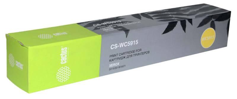 Тонер Картридж Cactus CS-WC5915 (006R01020) черный для Xerox 5915, 5918, 5921 (6000стр.)Лазерные картриджи для Xerox<br>Лазерный картридж CACTUS CS-WC5915 (006R01020). Он совместим с лазерным принтером HP LASERJET &amp;nbsp;XEROX 5915, 5918, 5921. Цвет - черный. С помощью данного картриджа Вы сможете распечатать порядка 6000 страниц текста (при 5% заполнении листа).&amp;nbsp;&amp;nbsp;CACTUS CS-WC5915&amp;nbsp; создан по аналогии с картриджем XEROX WC5915 (006R01020), нисколько не уступает ему по качеству печати, но цена его значительно ниже. Это позволит Вам немного сэкономить, ничего при этом не потеряв. На тонер-картридж Cactus CS-WC5915 распространяется гарантия 1 год с момента приобретения.<br>