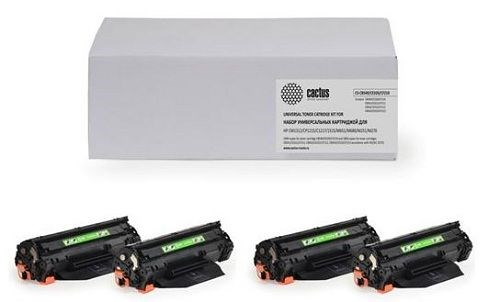 Комплект картриджей Cactus CS-Q3960A-Q3961A-Q3962A-Q3963A (HP 122A) для принтеров HP Color LaserJet 2550, 2550L, 2550LN, 2550N, 2820, 2830, 2840