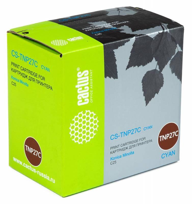 Лазерный картридж Cactus CS-TNP27C (TNP-27C) голубой для принтеров Konica Minolta C25 (6000 стр.)Картриджи для Konica-Minolta<br>Лазерный тонер картридж Cactus CS-TNP27C (TNP-27C) создан для использования в принтерах Konica Minolta C25<br>&amp;nbsp;<br><br>Ресурс картриджа 6000 страниц<br>&amp;nbsp;<br><br>Гарантия 12 месяцев<br>