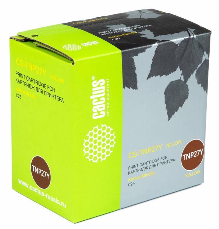 Лазерный картридж Cactus CS-TNP27Y (TNP-27Y) желтый для принтеров Konica Minolta C25 (6000 стр.)Картриджи для Konica-Minolta<br>Лазерный тонер картридж Cactus CS-TNP27Y (TNP-27Y) создан для использования в принтерах Konica Minolta C25<br>&amp;nbsp;<br><br>Ресурс картриджа 6000 страниц<br>&amp;nbsp;<br><br>Гарантия 12 месяцев<br>