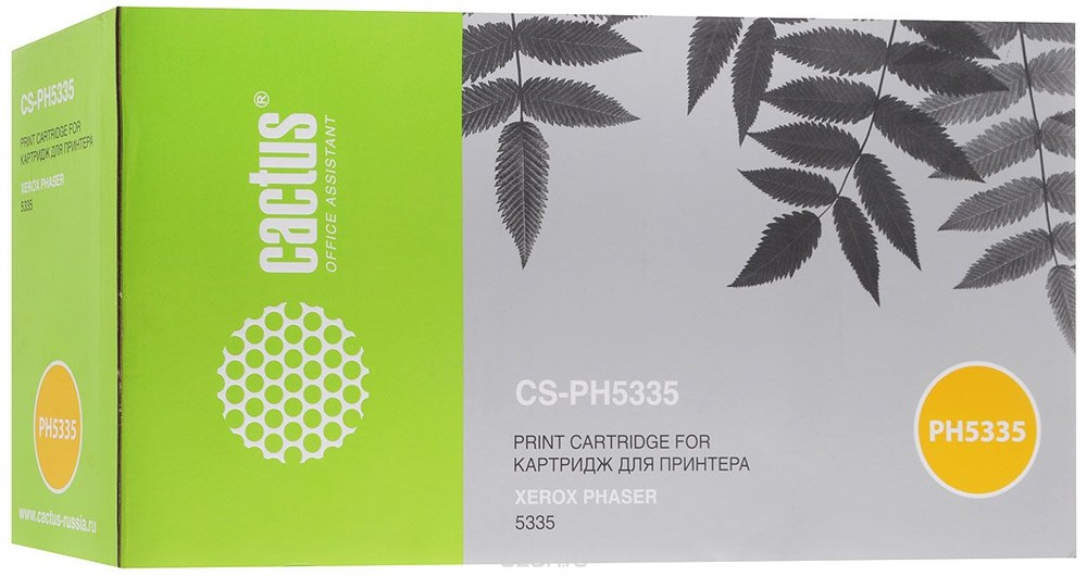 Лазерный картридж Cactus CS-PH5335 (113R00737) черный для принтеров Xerox Phaser 5335, 5335dn, 5335dt, 5335n (10000 стр.)Лазерные картриджи для Xerox<br>Лазерный тонер картридж Cactus CS-PH5335 (113R00737) создан для использования в принтерах Xerox Phaser 5335, 5335dn, 5335dt, 5335n<br>&amp;nbsp;<br><br>Ресурс картриджа 10000 страниц<br>&amp;nbsp;<br><br>Гарантия 12 месяцев<br>