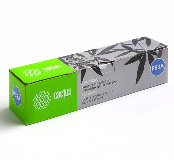 Лазерный картридж cactus cs-p83a (kx-fa83a) черный для принтеров