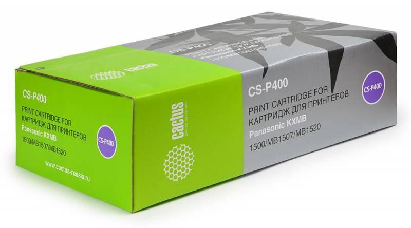 Лазерный картридж Cactus CS-P400 (KX-FAT400A7) черный для принтеров Panasonic KX MB1500, MB1500ru, MB1507, MB1507ru, MB1520, MB1520ru (1800 стр.)Лазерные картриджи<br>Лазерный тонер картридж Cactus CS-P400 (KX-FAT400A7) создан для использования в приньерах Brother Panasonic KX MB1500, MB1500ru, MB1507, MB1507ru, MB1520, MB1520ru<br>&amp;nbsp;<br><br>Ресурс картриджа 1800<br>&amp;nbsp;<br><br>Гарантия 12 месяцев<br>
