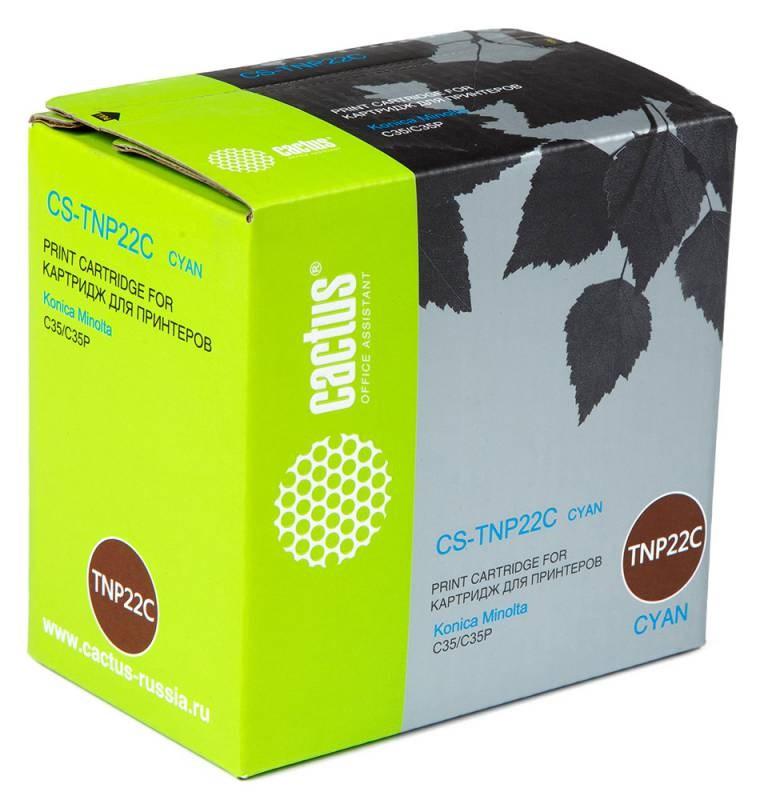 Лазерный картридж Cactus CS-TNP22C (TNP-22C) голубой для принтеров Konica Minolta C35, C35P (6000 стр.)Картриджи для Konica-Minolta<br>Лазерный тонер картридж Cactus CS-TNP22C (TNP-22C) создан для использования в принтерах Konica Minolta C35, C35P<br>nbsp;<br><br>Ресурс картриджа 6000 страниц<br>nbsp;<br><br>Гарантия 12 месяцев
