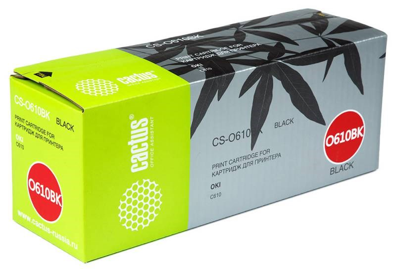 Лазерный картридж Cactus CS-O610BK (44315308) черный для принтеров Oki C610n, C610dn (8'000 стр.) фото