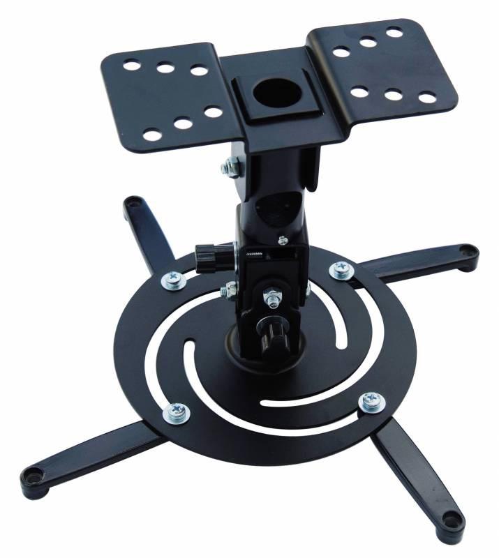 Кронштейн для проектора Cactus CS-VM-PR04-BK черный макс.10кг настенный и потолочный поворот и наклонКронштейны для проекторов<br><br>