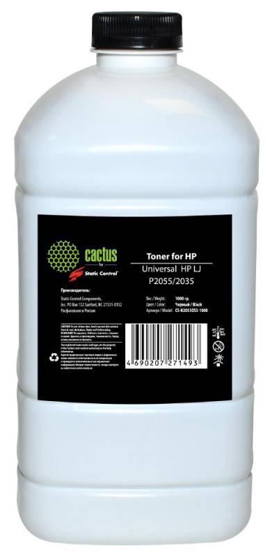 Тонер Cactus CS-H2055OS3-1000 черный флакон 1000гр. для принтера Universal toner HP LJ( M425, P2035, P2055)(SC)Тонер<br><br>