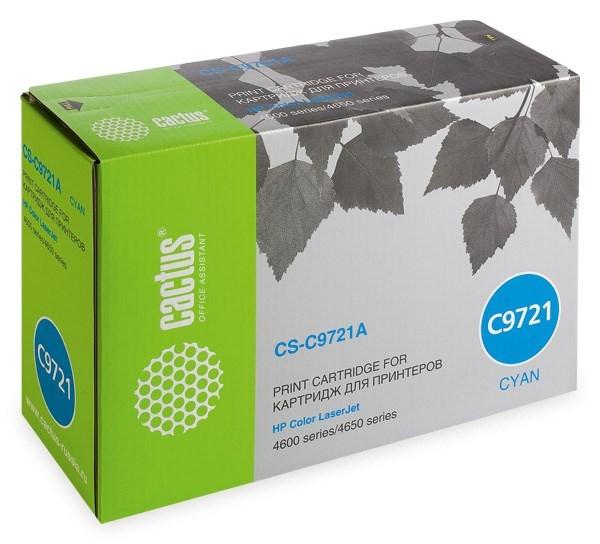 Лазерный картридж Cactus CS-C9721AR (HP 641A) голубой для HP Color LaserJet 4600, 4600dn, 4600dtn, 4600hdn, 4600n, 4610, 4650, 4650dn, 4650dtn, 4650hdn, 4650n; Canon imageClass C2500; Canon LBP 85, 2510, 5500 (8'000 стр.) фото