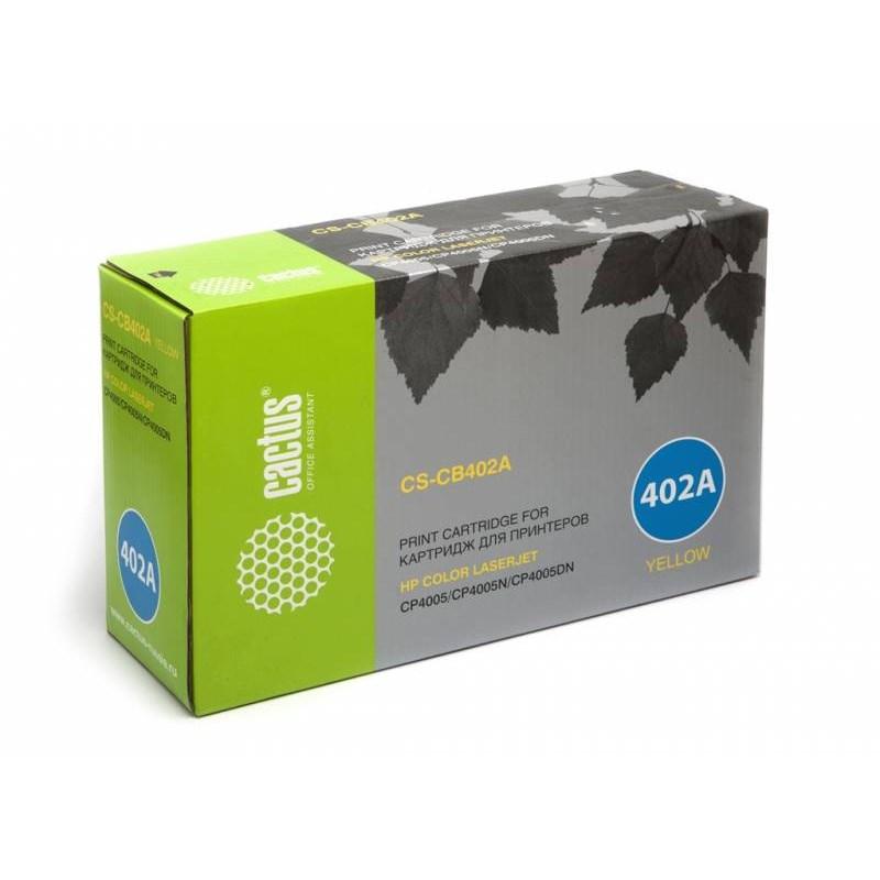 Лазерный картридж Cactus CS-CB402AR (HP 642A) желтый для HP Color LaserJet CP4005, CP4005DN, CP4005N (7'500 стр.) фото