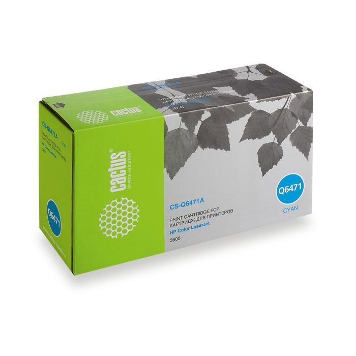 Лазерный картридж Cactus CS-Q6471AR (502A C) голубой для HP Color LaserJet 3600, 3600DN, 3600N (4000 стр.)все товары cactus-trade<br>Лазерный картридж Cactus CS-Q6471AR<br><br>Предназначен для использования в принтерах HP Color LaserJet 3600, 3600DN, 3600N<br><br>Цвет &amp;ndash; голубой<br><br>Используя картридж Cactus CS-Q6471AR у Вас будет возможность распечатать около 4&amp;#39;000 информационных страниц (при 5% заполнении).<br><br>Гарантия на картридж Cactus CS-Q6471AR предоставляется производителем, сроком на 12 месяцев с момента приобретения.<br>