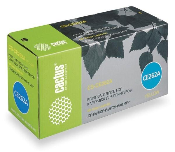 Лазерный картридж Cactus CS-CE262AV (648A Y) желтый для HP Color LaserJet CP4020 Enterprise, CP4025 Enterprise, CP4025dn, CP4025n, CP4520 Enterprise, CP4525 Enterprise, CP4525dn, CP4525n, CP4525xh (11000 стр.)Лазерные картриджи для HP<br><br>Лазерный картридж Cactus CS-CE262AV<br><br>Предназначен для использования в принтерах HP Color LaserJet CP4020 Enterprise, CP4025 Enterprise, CP4025dn, CP4025n, CP4520 Enterprise, CP4525 Enterprise, CP4525dn, CP4525n, CP4525xh<br><br>Цвет &amp;ndash; желтый<br><br>Используя картридж Cactus CS-CE262AV у Вас будет возможность распечатать около 11&amp;#39;000 информационных страниц (при 5% заполнении).<br><br>Гарантия на картридж Cactus CS-CE262AV предоставляется производителем, сроком на 12 месяцев с момента приобретения.<br><br>