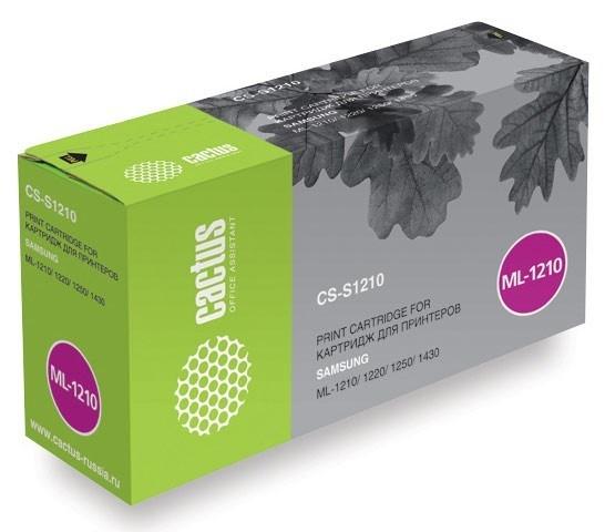 Лазерный картридж Cactus CS-S1210V (ML-1210D3) черный для Samsung ML 1010, 1020M, 1200, 1210, 1210Z, 1220, 1220M, 1220MR, 1250, 1250Z, 1430 (2'500 стр.) 475298