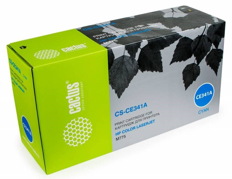 Лазерный картридж Cactus CS-CE341AV (651A C) голубой для HP Color LaserJet M775 (Enterprise 700 color), M775dn MFP, M775f MFP, M775z MFP, M775zplus MFP (16000 стр.)Лазерные картриджи для HP<br>Лазерный картридж Cactus CS-CE341AV<br><br>Предназначен для использования в принтерах HP Color LaserJet M775 (Enterprise 700 color), M775dn MFP, M775f MFP, M775z MFP, M775zplus MFP<br><br>Цвет &amp;ndash; голубой<br><br>Используя картридж Cactus CS-CE341AV у Вас будет возможность распечатать около 16&amp;#39;000 информационных страниц (при 5% заполнении).<br><br>Гарантия на картридж Cactus CS-CE341AV предоставляется производителем, сроком на 12 месяцев с момента приобретения.<br>
