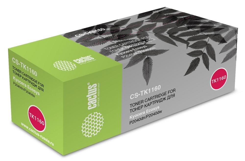 Лазерный картридж Cactus CS-TK1160 (TK-1160) черный для Kyocera Ecosys P2040dn, P2040dw (7\'200 стр.)