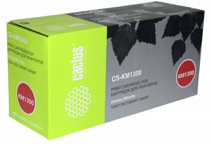 Лазерный картридж Cactus CS-KM1300R (1710566 Bk) черный для Konica Minolta Pagepro 1300, 1300W, 1350, 1350E, 1350W, 1380, 1380MF, 1390, 1390MF (3000 стр.)Картриджи для Konica-Minolta<br><br><br>Лазерный картридж Cactus CS-KM1300R<br><br>Предназначен для использования в принтерах Konica Minolta Pagepro 1300, 1300W, 1350, 1350E, 1350W, 1380, 1380MF, 1390, 1390MF<br><br>Цвет ndash; черный<br><br>Используя картридж Cactus CS-KM1300R у Вас будет возможность распечатать около 3#39;000 информационных страниц (при 5% заполнении).<br><br>Гарантия на картридж Cactus CS-KM1300R предоставляется производителем, сроком на 12 месяцев с момента приобретения.<br><br>