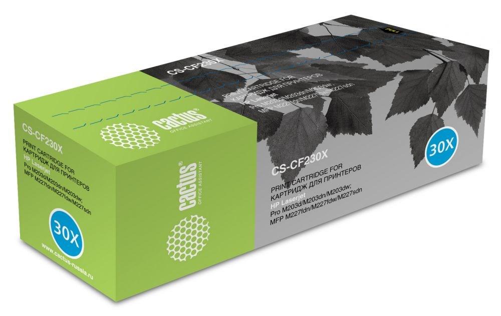 Тонер Картридж Cactus CS-CF230X (HP 30X) черный (3500 стр.) для HP LaserJet:M203dn Pro,M203dw Pro,M227 Pro MFP,M227fwd Pro MPF, M227sdn Pro MPF.Лазерные картриджи для HP<br>Картридж&amp;nbsp;Cactus CS-CF230X&amp;nbsp;&amp;nbsp;(HP 30X)&amp;nbsp;совместим со следующими моделями&amp;nbsp;принтеров:<br><br>HP LaserJet:&amp;nbsp;M203dn Pro,&amp;nbsp;M203dw Pro,&amp;nbsp;M227 Pro MFP,&amp;nbsp;M227fwd Pro MPF, M227sdn Pro MPF.<br><br>Цвет -&amp;nbsp;черный. С помощью данного картриджа Вы сможете распечатать порядка&amp;nbsp;3500 страниц&amp;nbsp;текста (при 5% заполнении листа).&amp;nbsp;&amp;nbsp;Cactus CS-CF230X&amp;nbsp;создан по аналогии с картриджем&amp;nbsp;Hewlett-Packard CF230X&amp;nbsp;&amp;nbsp;(HP 30X), нисколько не уступает ему по качеству печати, но цена его значительно ниже. Это позволит Вам немного сэкономить, ничего при этом не потеряв.<br><br>На тонер-картридж&amp;nbsp;Cactus CS-CF230X&amp;nbsp;распространяется гарантия&amp;nbsp;1 год&amp;nbsp;с момента приобретения.<br>